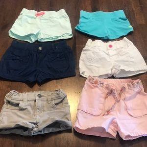 Other - 6 pairs girls toddler shorts, 3T